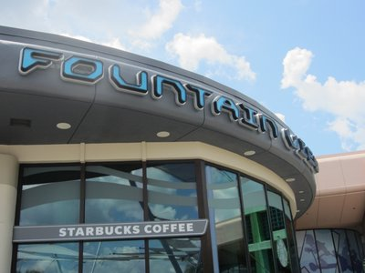 The Fountain View exterior doesn't scream Starbucks - it is understated.