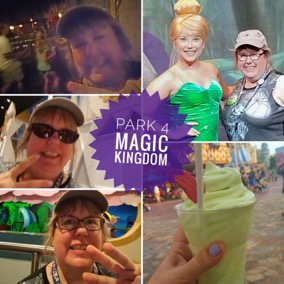 I finished my day in Magic Kingdom. Four parks, one day: success!