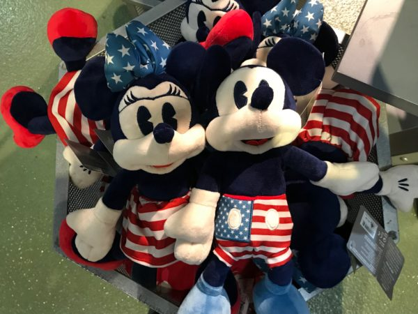 Mickey and Minnie are dressed in their finest Red, White, and Blue!