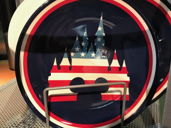 Here's a different style of plate with the classic Mickey design in front of Cinderella Castle!