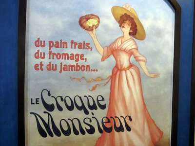 Croque Monsier poster - French food fun!