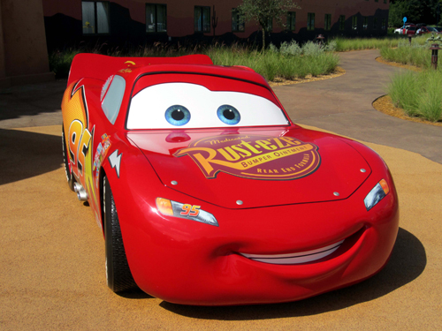 Snap a pic with Lightening McQueen at Disney's Art of Animation resort.
