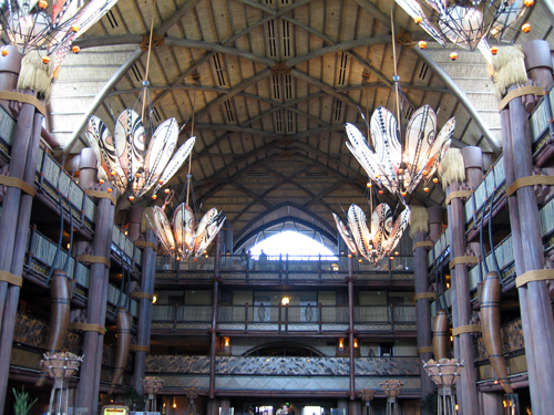 The impressive Animal Kingdom Lodge - pictures don't to it justice.