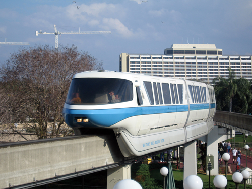The monorail is a fun and free attraction.