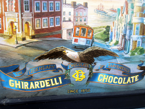 Stop by Ghirardelli in Disney Springs for a free chocolate sample!