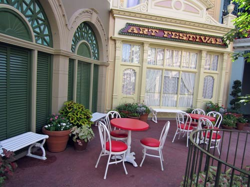 Often overlooked, Center Street offers a quite place just steps from Main Street USA.