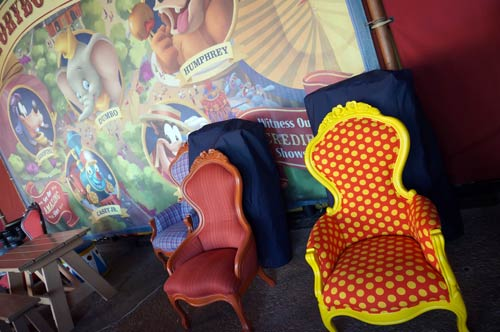 Have a seat in grand circus style.