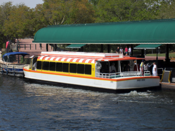 The FriendShip Boats will face a service interruption from November 28 through late December to install supports for the new Disney Skyliner.