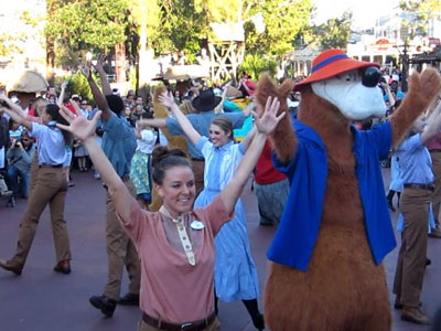 The Frontierland Hoedown is great fun for everyone!