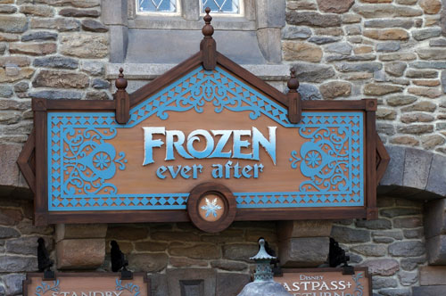 Frozen Ever After opened to huge lines and long waits.