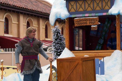 Kristoff in the parade.