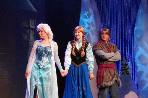 Elsa, Anna, and Kristoff.
