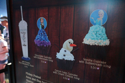 "You can also purchase ""Frozen"" sweet treats in the Funland."