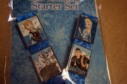 "The prize includes four ""Frozen"" Disney trading pins."
