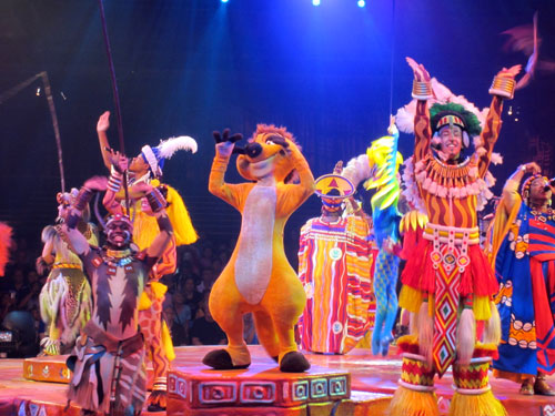 The Festival Of The Lion King has plenty of color and action that boys will love.