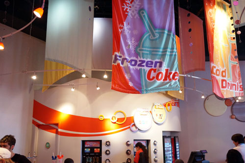 Thirsty? Get some free soda in Epcot.