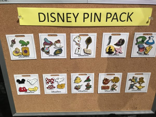 Disney is also releasing some new pin packs with pieces of some of our most beloved Disney movies and characters like Minnie, Mickey, Alice, Little Mermaid, Beauty and the Beast, and more.