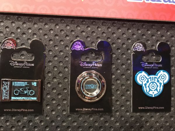 There were a bunch of pins on display that are exclusive to Shanghai Disneyland. These ones honor Tron. With Iron coming to Magic Kingdom, we could see these or similar pins stateside before long!