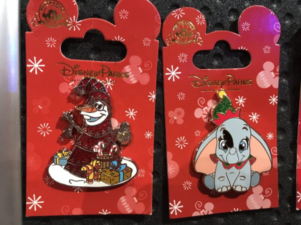 Olaf and Dumbo get into the Christmas spirit with these pins!