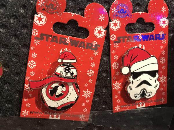 Star Wars is taking over Disney's Hollywood Studios, so here are some Star Wars Christmas pins!