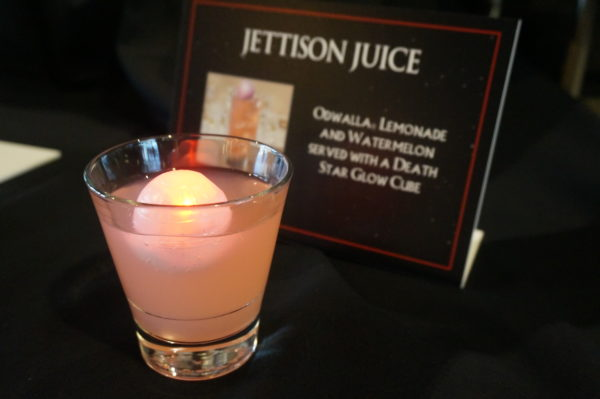 The Jettison Juice is a type of lemonade with a fun Death Star glow cube.