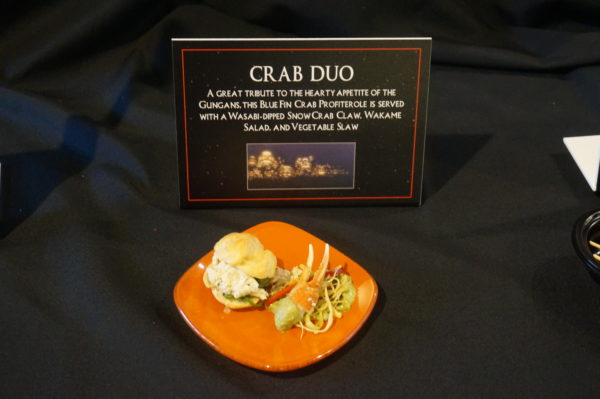 This crab duo included vegie slaw and was really good.