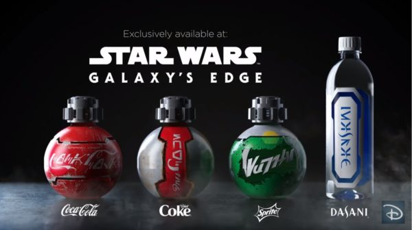 Disney will offer specially package Coke products in Galaxy's Edge. Photo credits (C) Disney Enterprises, Inc. All Rights Reserved