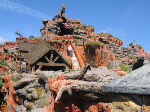 Splash Mountain earns its name every day - you may get wet.