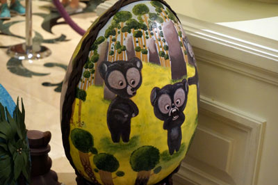 Easter Egg with bears from Brave.