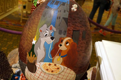 Lady and the Tramp Easter egg - very nicely done.