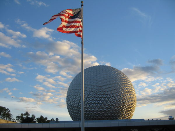 Disney World is decidedly patriotic.