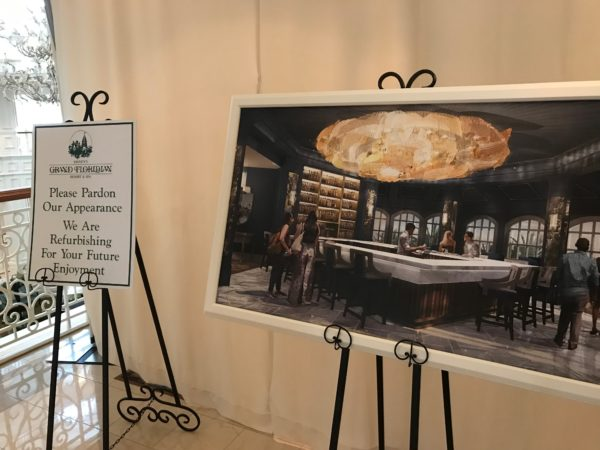 Beauty and the Beast Lounge Concept Art is on display at Disney's Grand Floridian Resort.