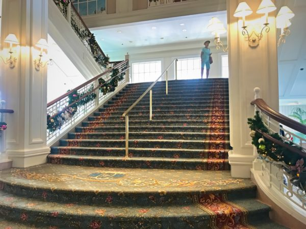Some of Walt Disney World's prettiest staircases exist here at the Grand Floridian..