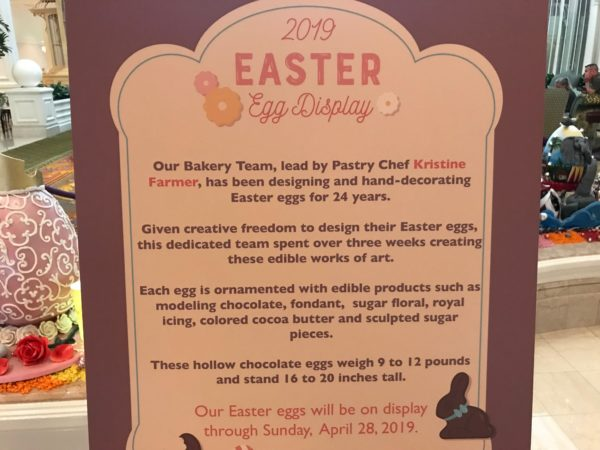 Welcome to the 2019 Easter Egg display! Here are some interesting facts about the display!