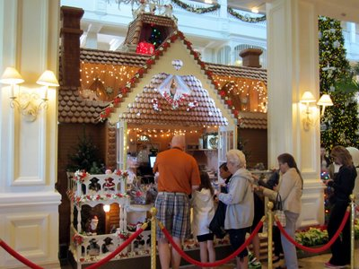 And it is big enough to hold a little store with Cast Members that sell - what else - Gingerbread Treats.