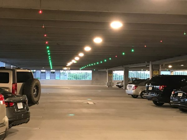 Just like the other two garages at Disney Springs, this one contains parking technology that shows you what spots are open and occupied.  This makes it much easier to find a parking spot when the garage is nearly full.