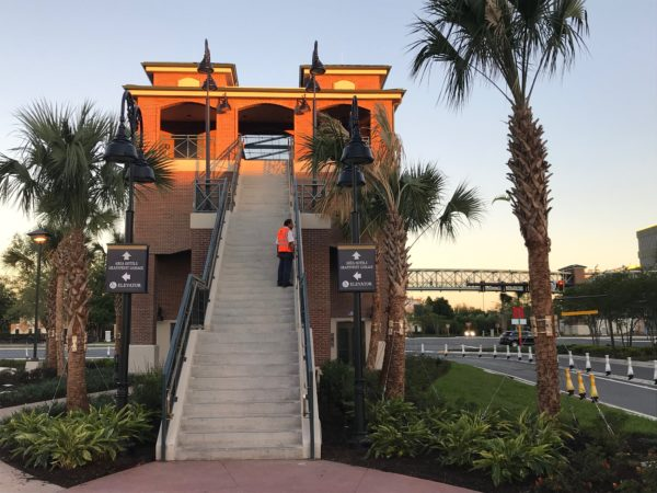 Head down the steps and you are in Disney Springs!