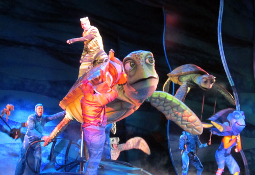 The Finding Nemo show is amazing.