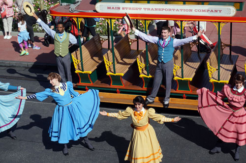 Take time to watch the Main Street Trolley Show.