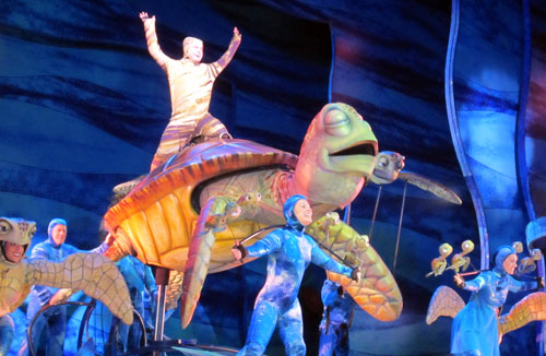 Finding Nemo: The Musical - you will laugh and cry, all while having a great time.
