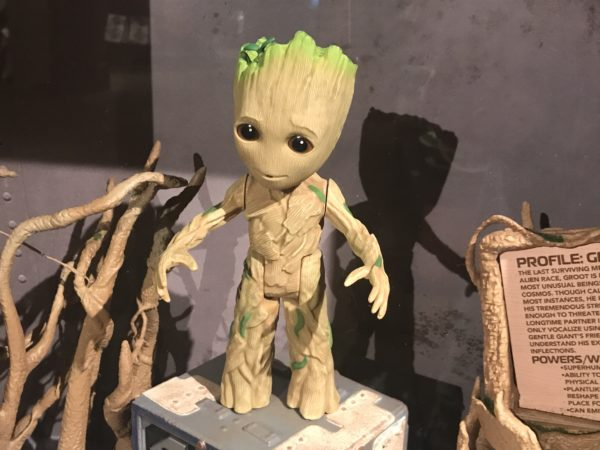 A look at Groot out of his box.