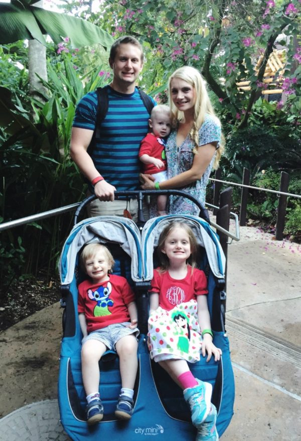 Hailey, Connor, and Logan all used our stroller rental during our trip to Walt Disney World.