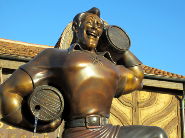 Gaston constructed a huge statue of himself outside of his own tavern. His head is almost as big here as it is in real life!