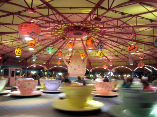 Spin around in these over-sized tea cups!