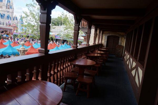 Pinocchio Village Haus has plenty of seating inside on two floors, upstairs on the patio, and in front of the restaurant under colorful umbrellas.