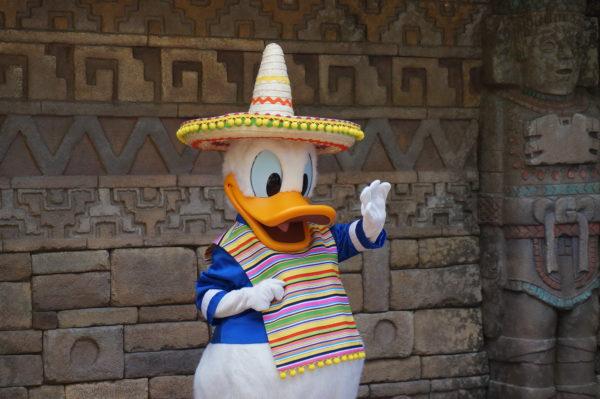 Meet Donald Duck in his sombrero in Mexico!