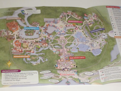 The new Guide Map for The Magic Kingdom looks similar - north is still up.