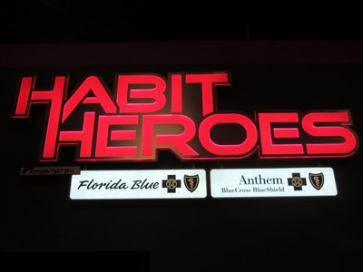 Habit Heroes Entrance Sign