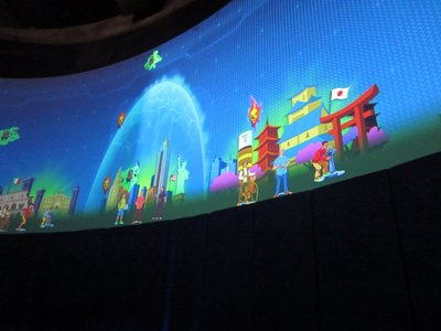 The graphics are large and colorful.