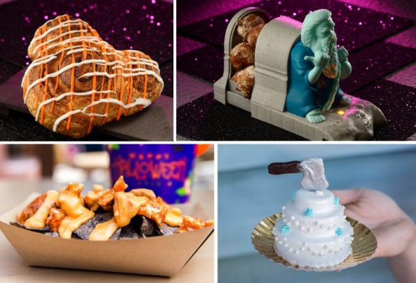 Magic Kingdom treats, including a Mickey Cinnamon Roll. Photo credits (C) Disney Enterprises, Inc. All Rights Reserved